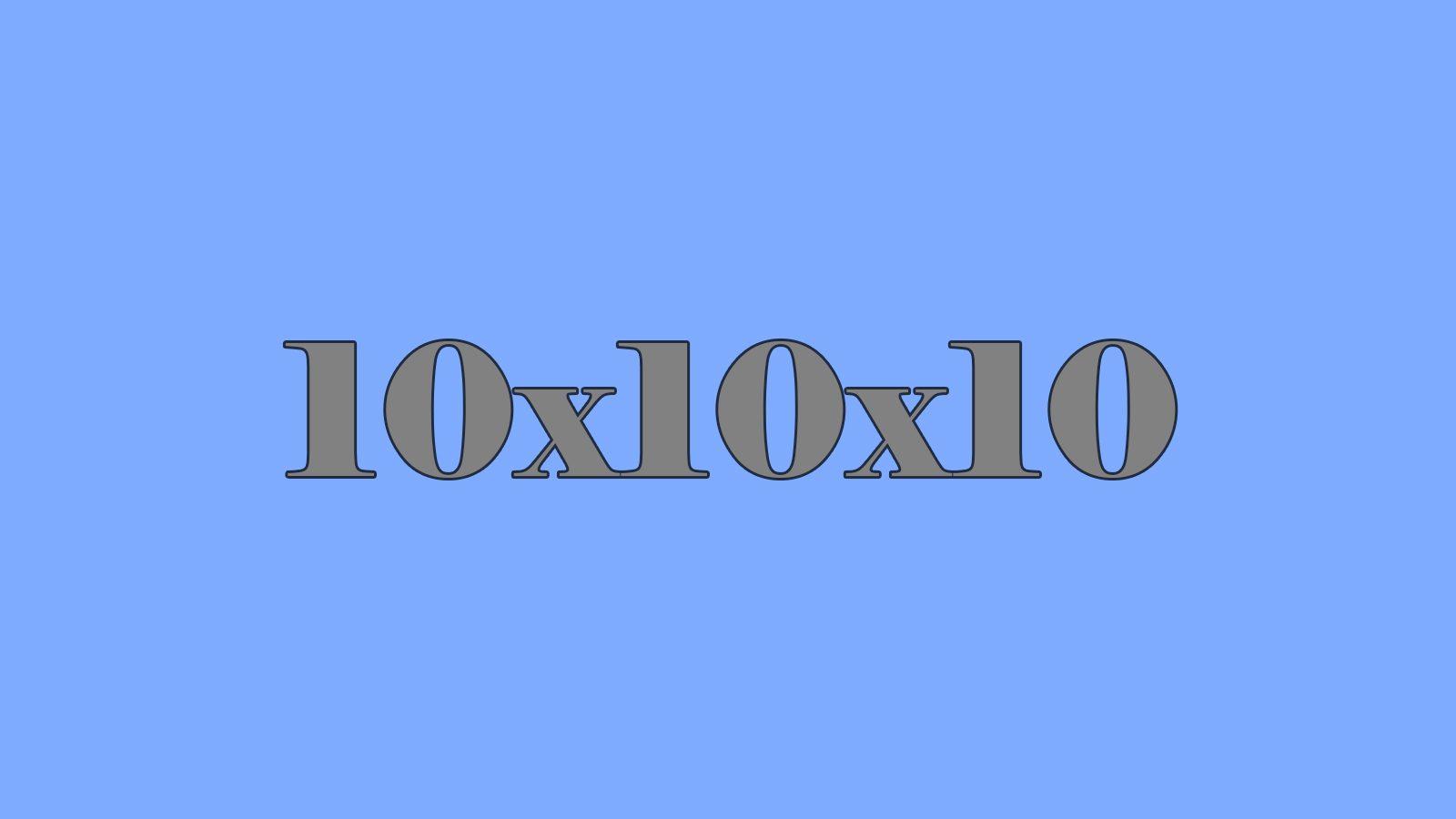 10x10x10 Cube Map Thumbnail