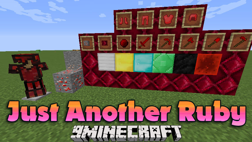 Just Another Ruby Mod 1 14 3 1 12 2 Ruby Ore Ruby Block
