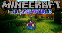 Arcane World mod for minecraft logo