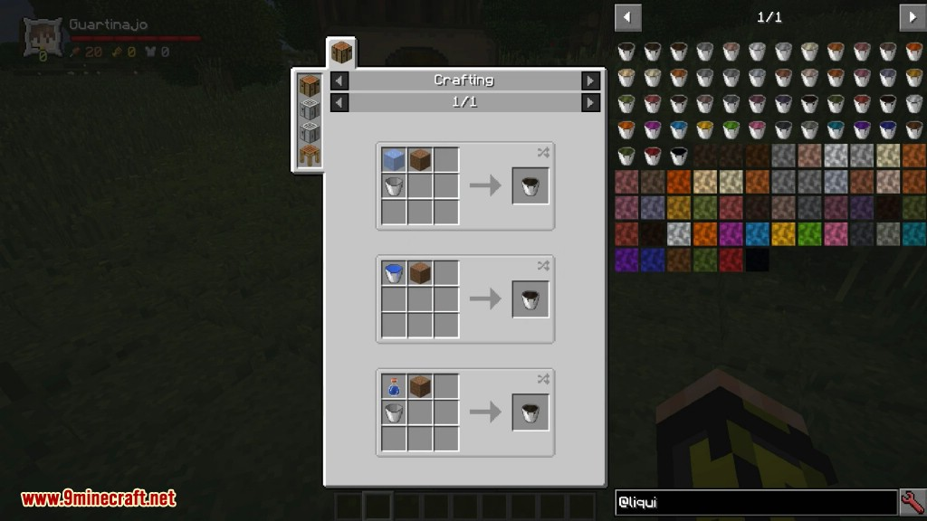 Liquid Blocks Mod Crafting Recipes 1