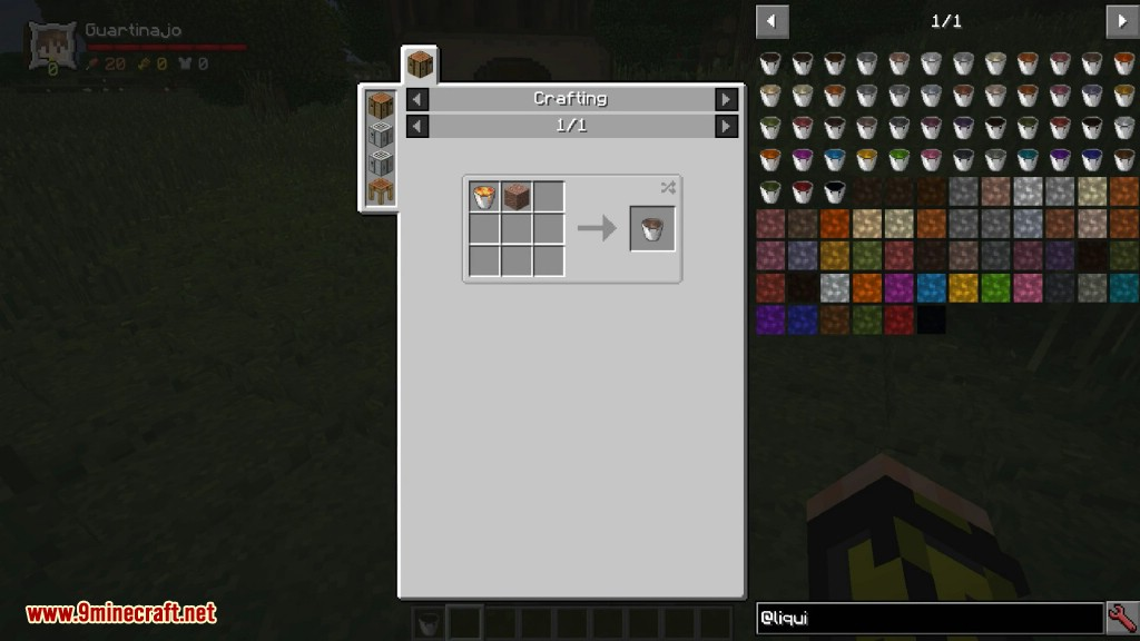 Liquid Blocks Mod Crafting Recipes 2