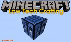 Low Tech Crafting mod for minecraft logo