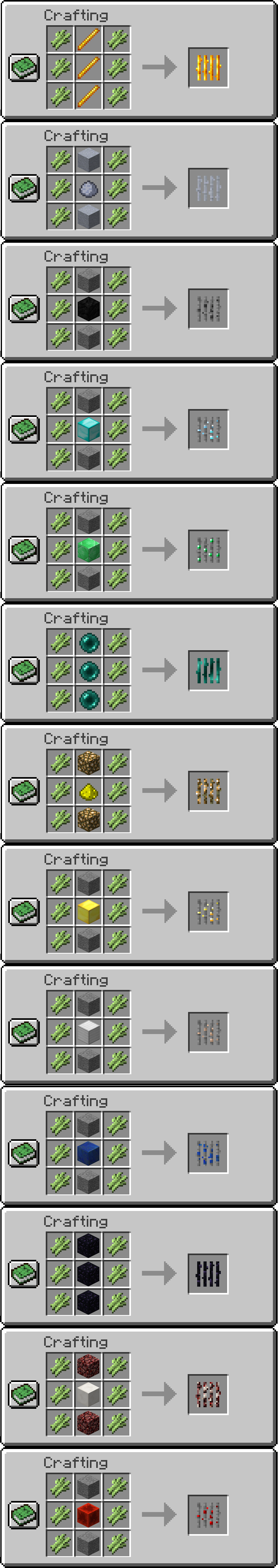 Ore Reeds Mod Crafting Recipes 2
