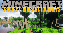 Project Vibrant Journeys mod for minecraft logo