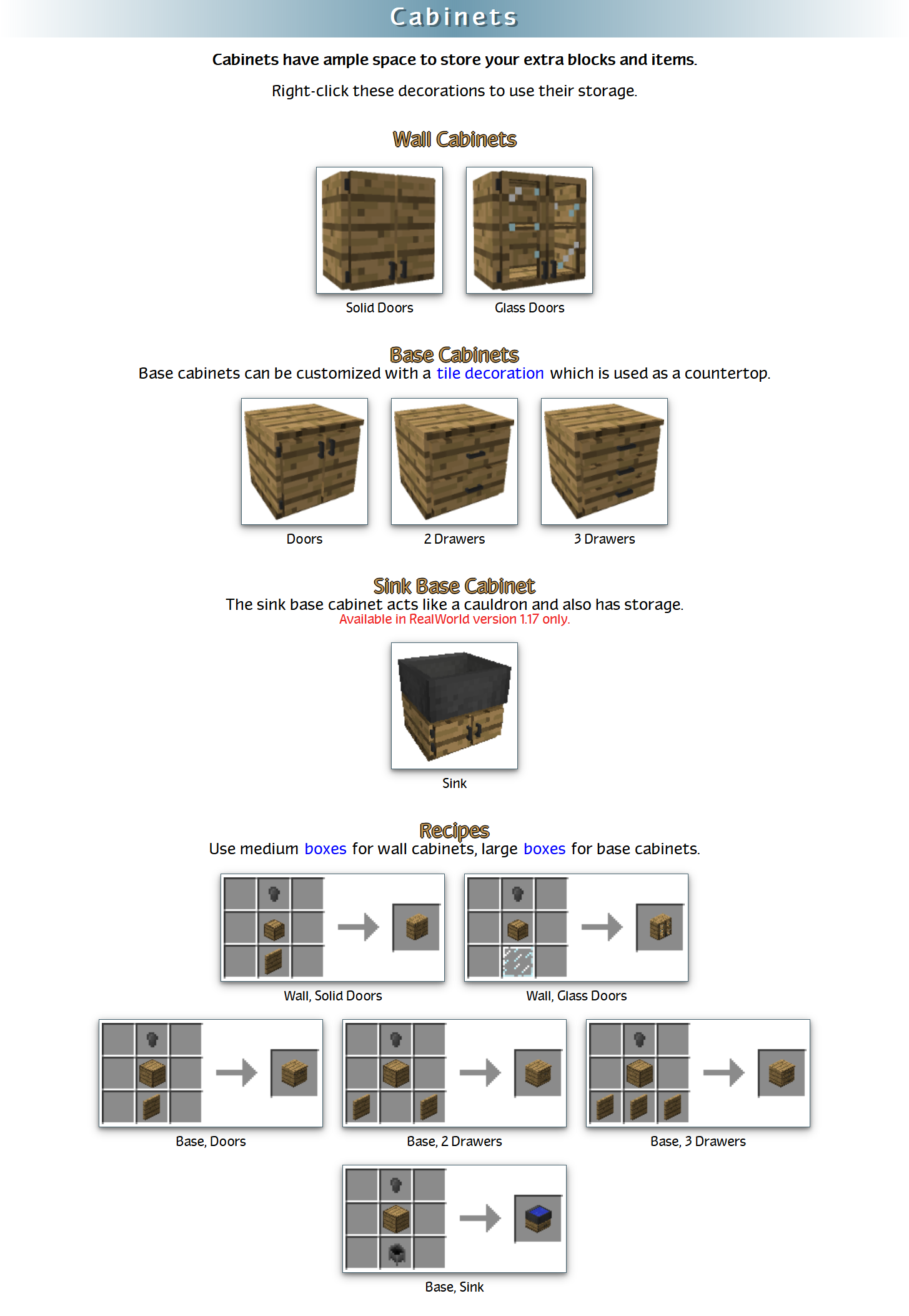 RealWorld Mod Crafting Recipes 23