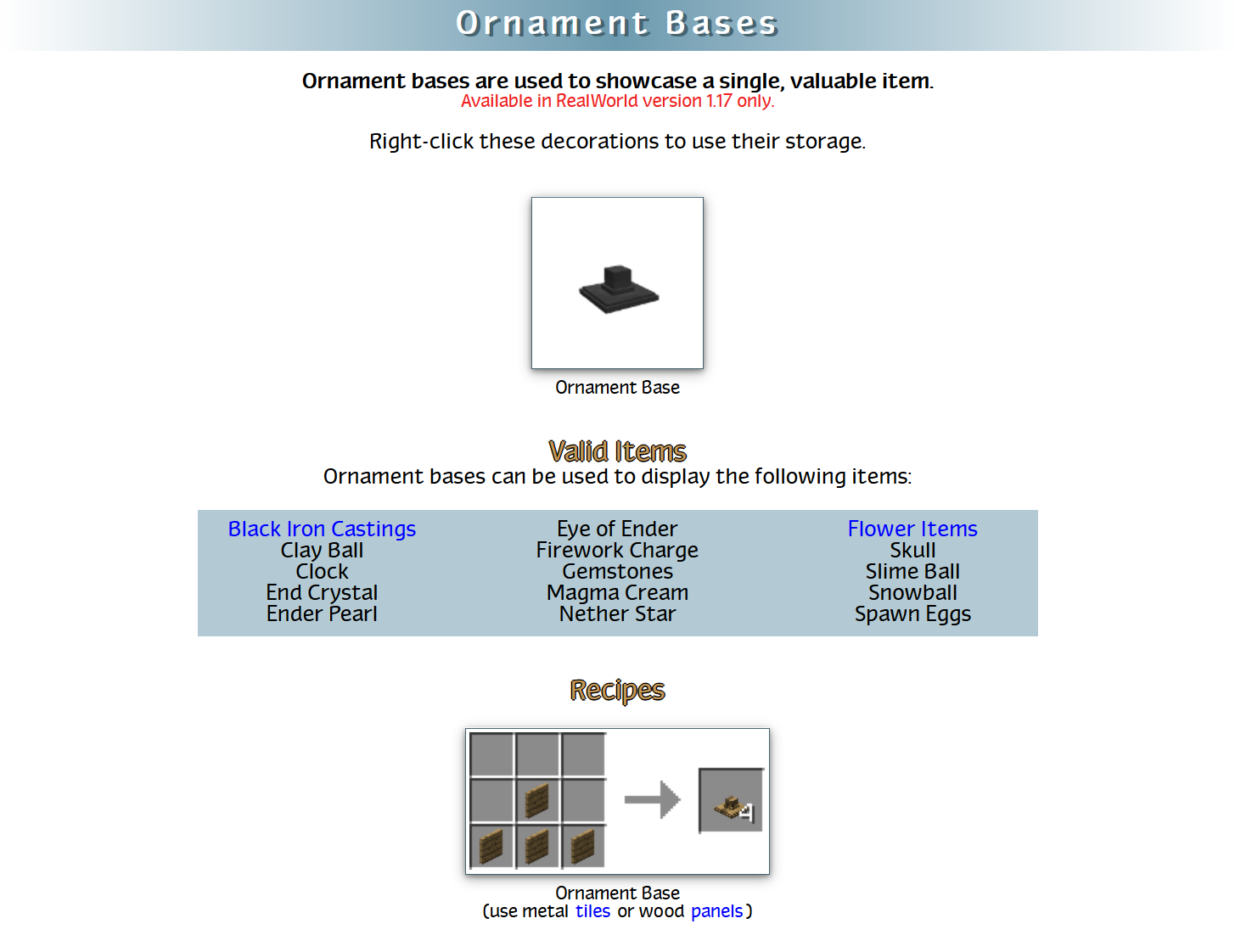 RealWorld Mod Crafting Recipes 46