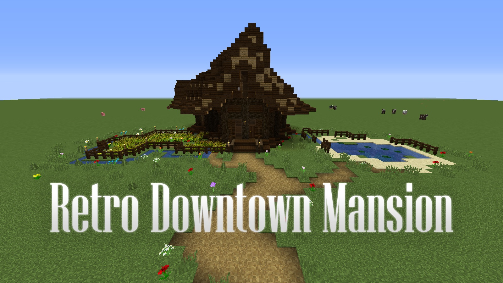 retro downtown mansion map 1 13 2 for minecraft