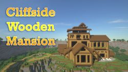 Cliffside Wooden Mansion Map Thumbnail