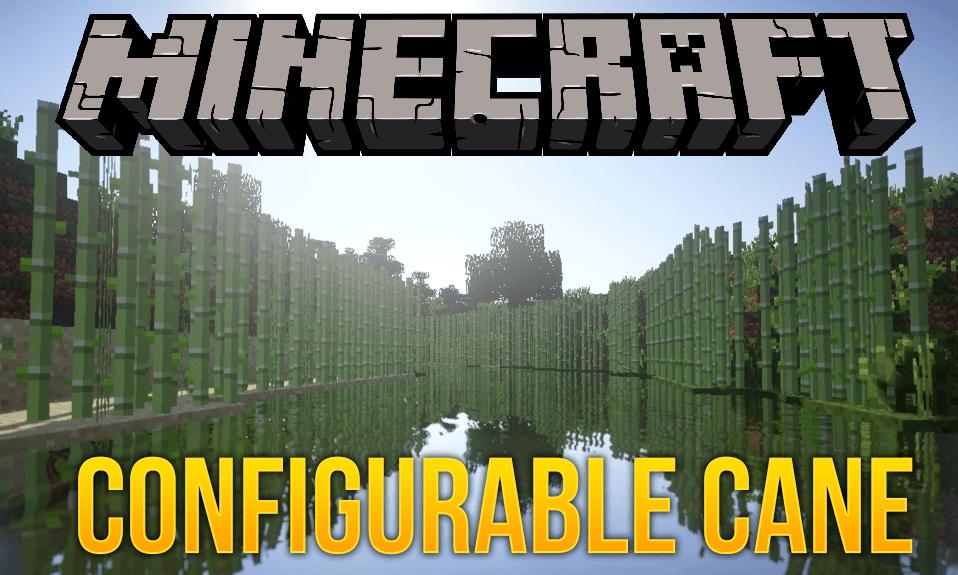 Configurable Cane mod for minecraft logo