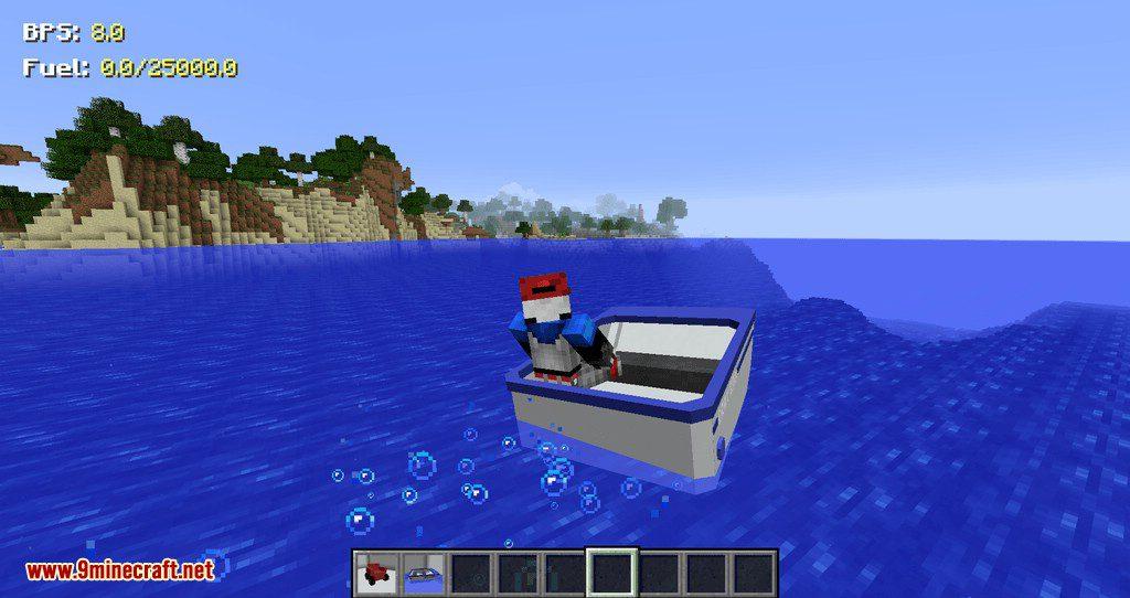 Mr.Crayfish Vehicle Spawner mod for minecraft 03