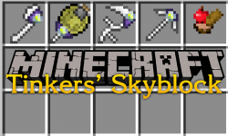 Tinkers Skyblock mod for minecraft logo