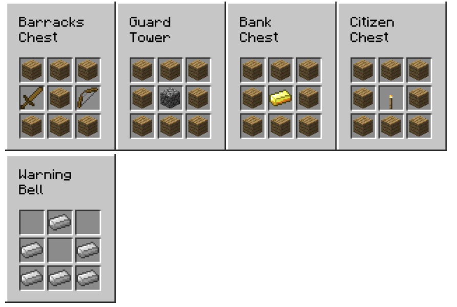 Town Building Mod Crafting Recipes 4