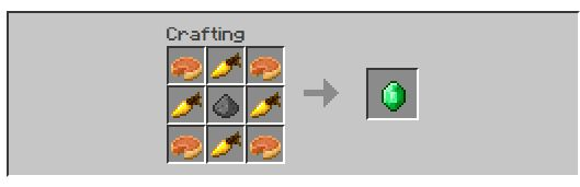 farming ores emerald recipe