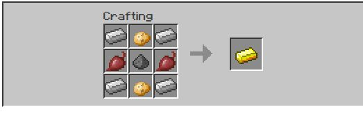 farming ores gold recipe