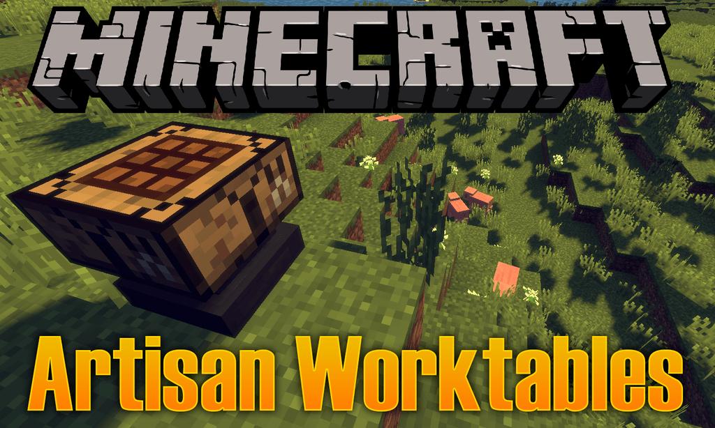 Artisan Worktables mod for minecraft logo
