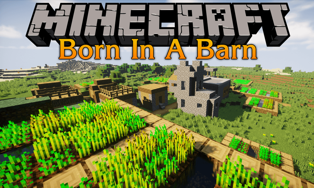 Born In A Barn mod for minecraft logo