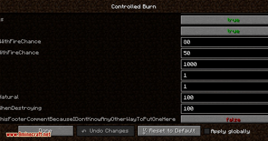 Controlled Burn mod for minecraft 09