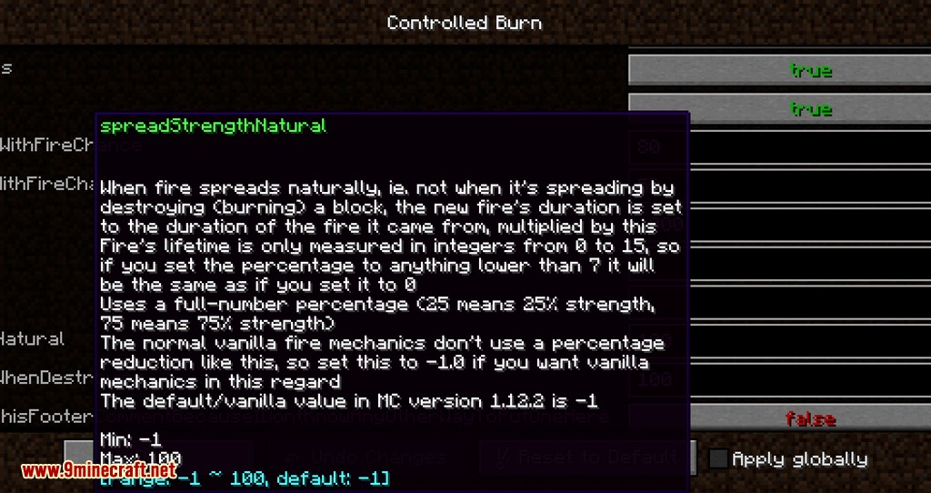 Controlled Burn mod for minecraft 10