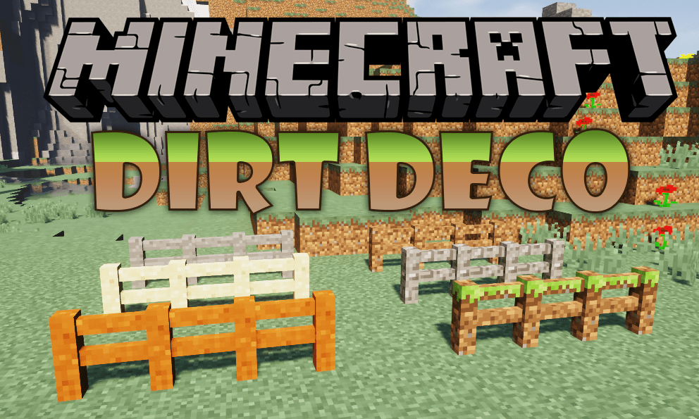 Dirt Deco mod for minecraft logo