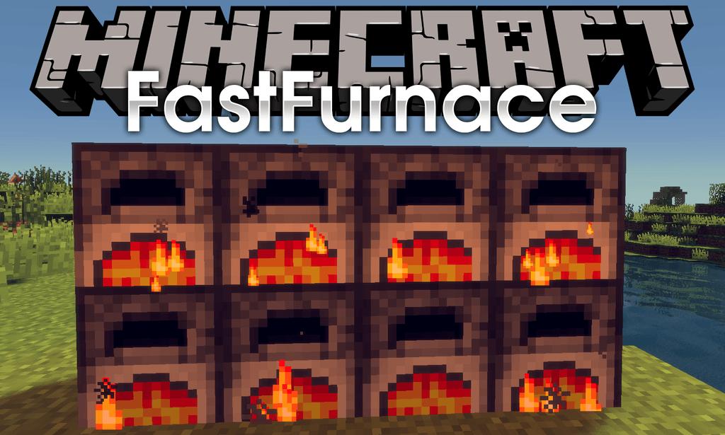 Fast Furnace mod for minecraft logo