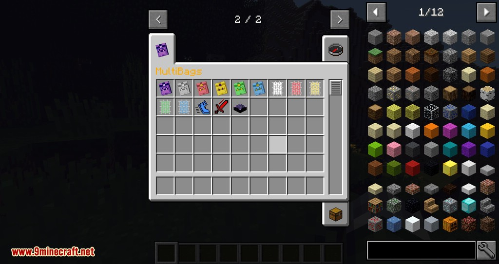 MultiBags mod for minecraft 01