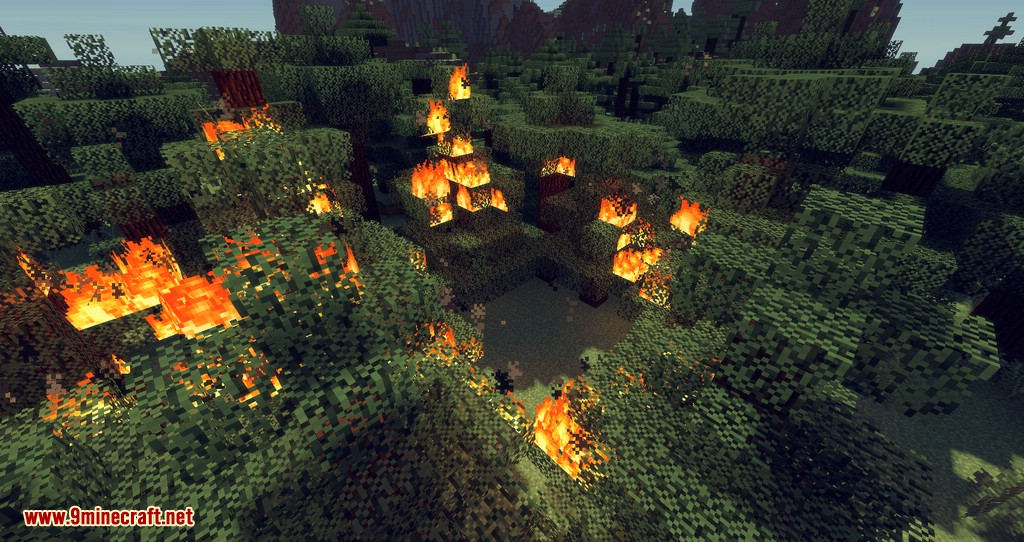 No Fire Spread mod for minecraft 01