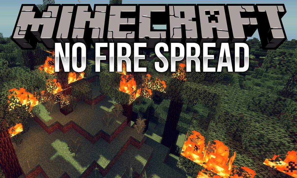 No Fire Spread mod for minecraft logo