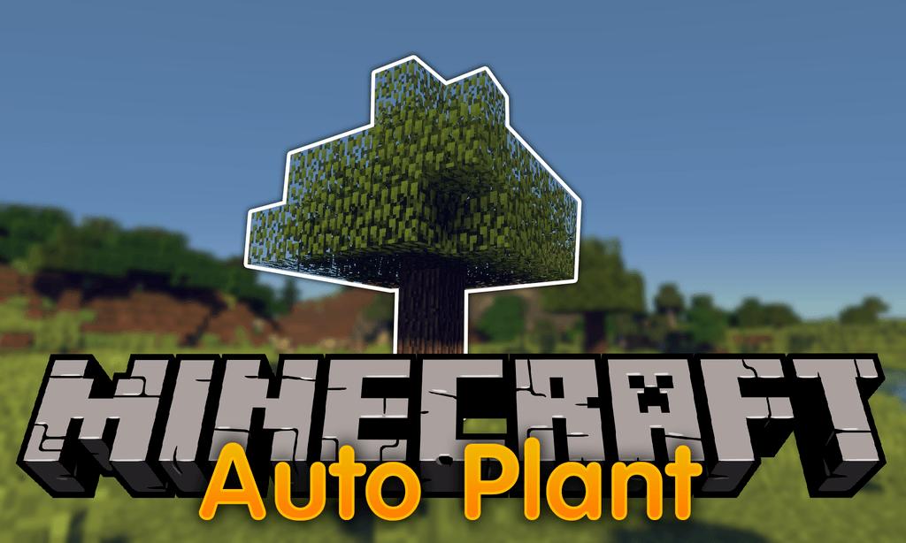 AutoPlant mod for minecraft logo