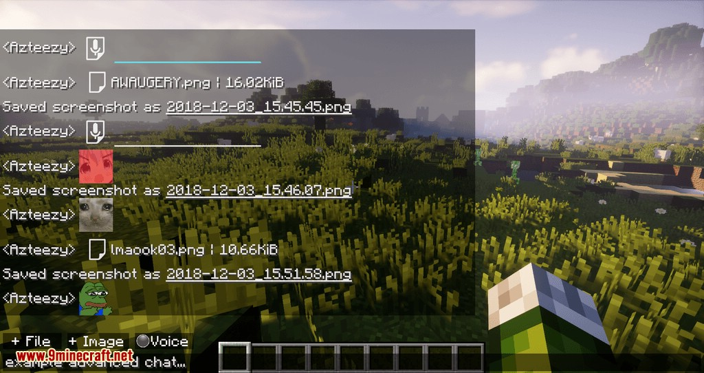 Chat Overhaul mod for minecraft 08