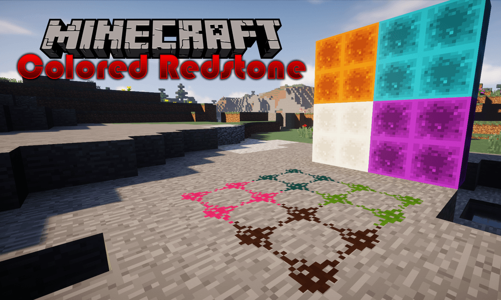 Colored Redstone mod for minecraft logo