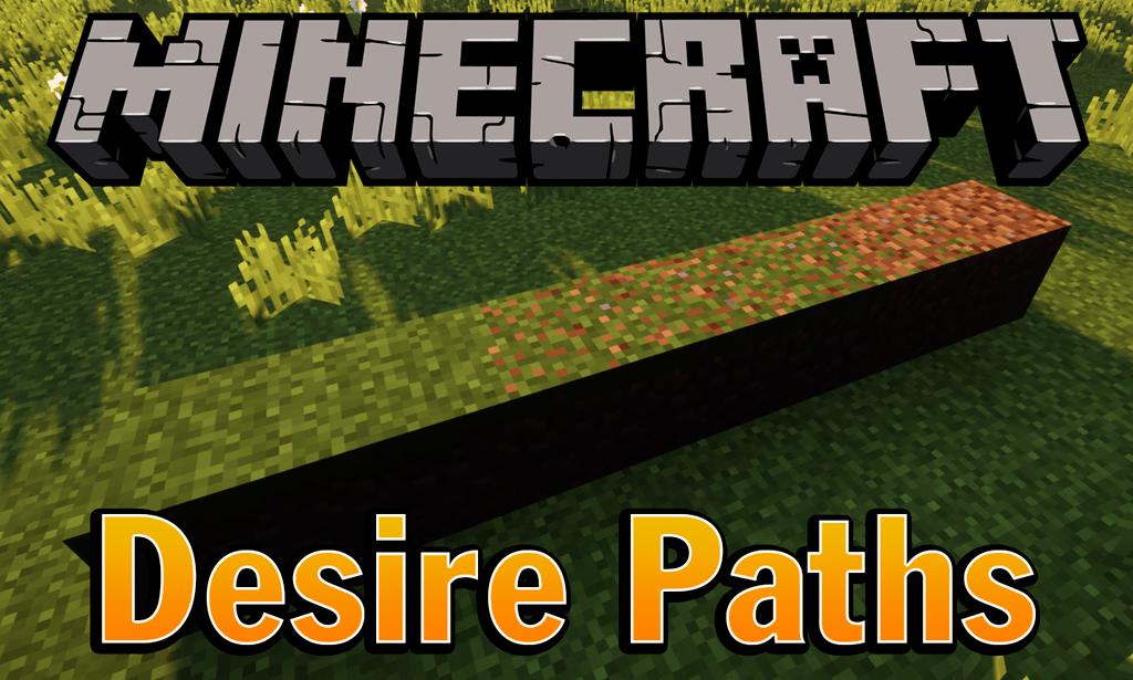 Desire Paths mod for minecraft logo