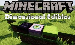 Dimensional Edibles mod for minecraft logo