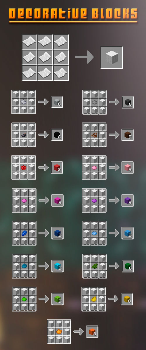 Extra Blocks Mod Crafting Recipes 2