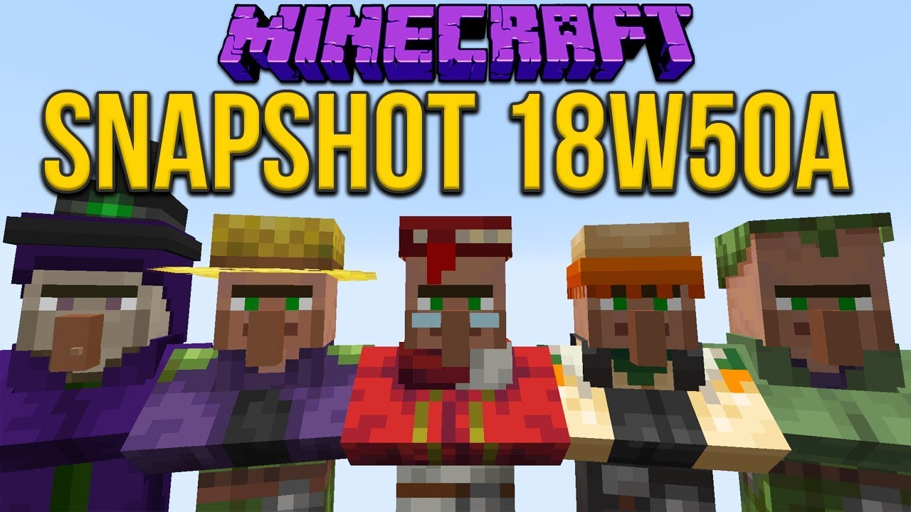 Minecraft 1 14 Snapshot 18w50a New Villager Types 9minecraft Net