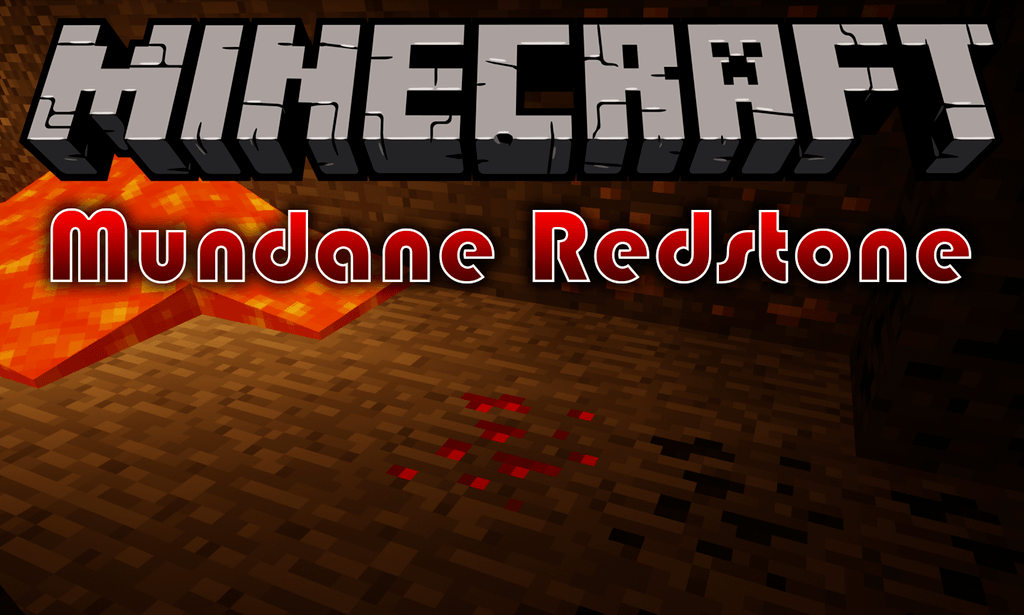 Mundane Redstone mod for minecraft logo