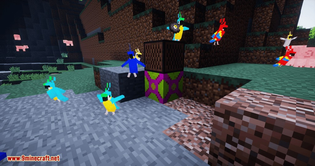 Parrot Power mod for minecraft 07