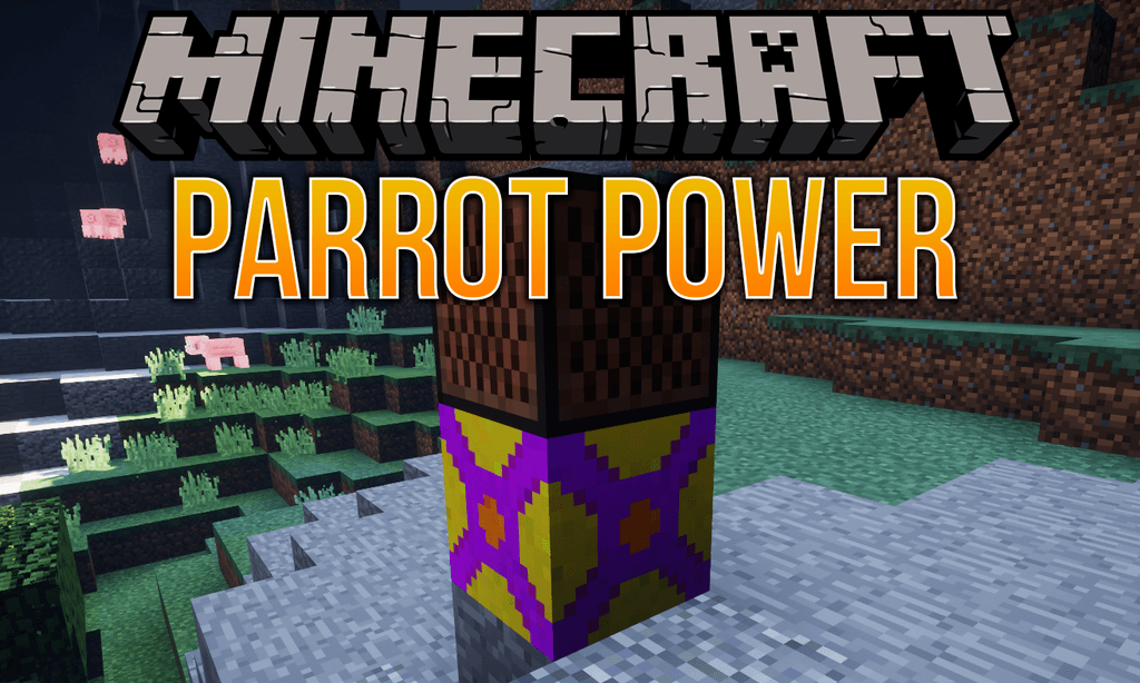Parrot Power mod for minecraft logo