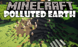 Polluted Earth mod for minecraft logo