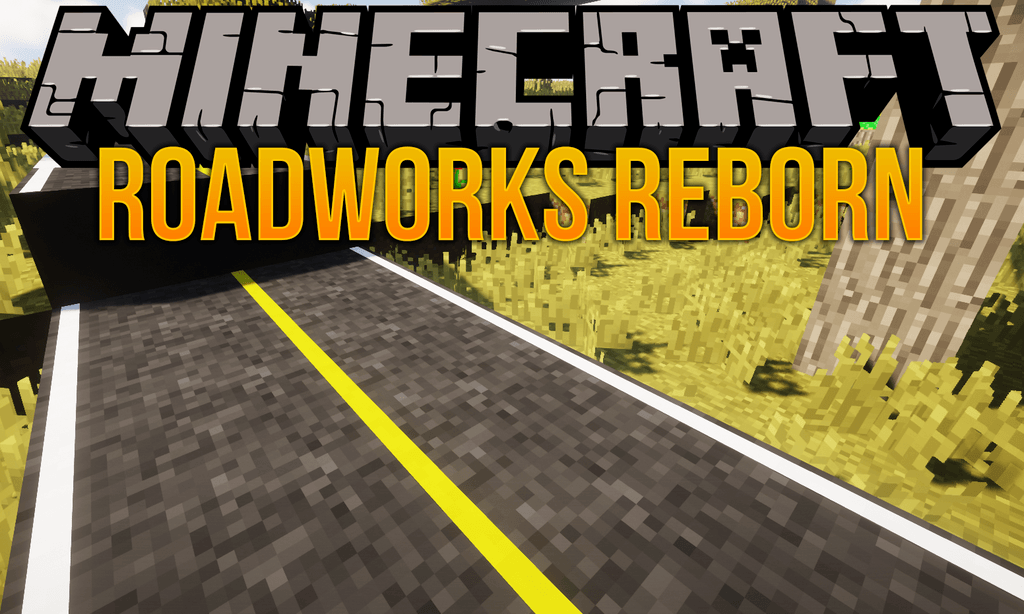 RoadWorks Reborn mod for minecraft logo