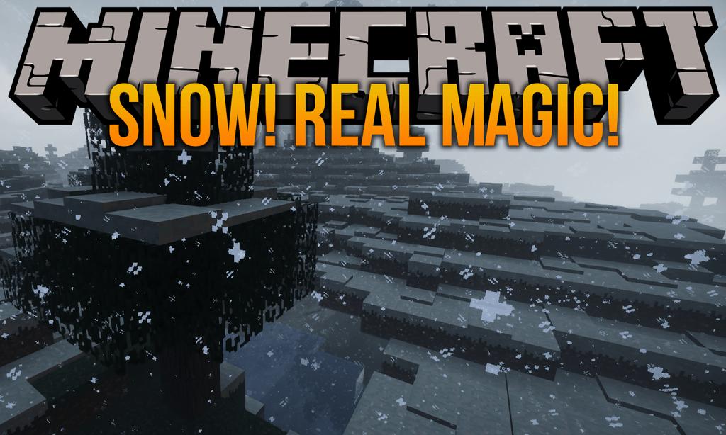 Snow Real Magic mod for minecraft logo