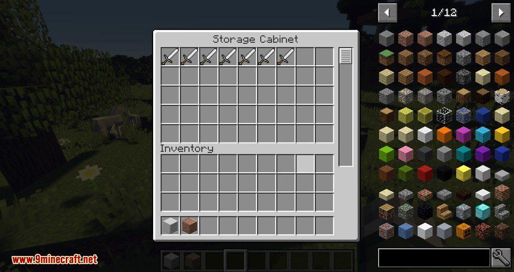 Storage Cabinet mod for minecraft 09