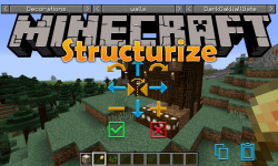 Structurize mod for minecraft logo