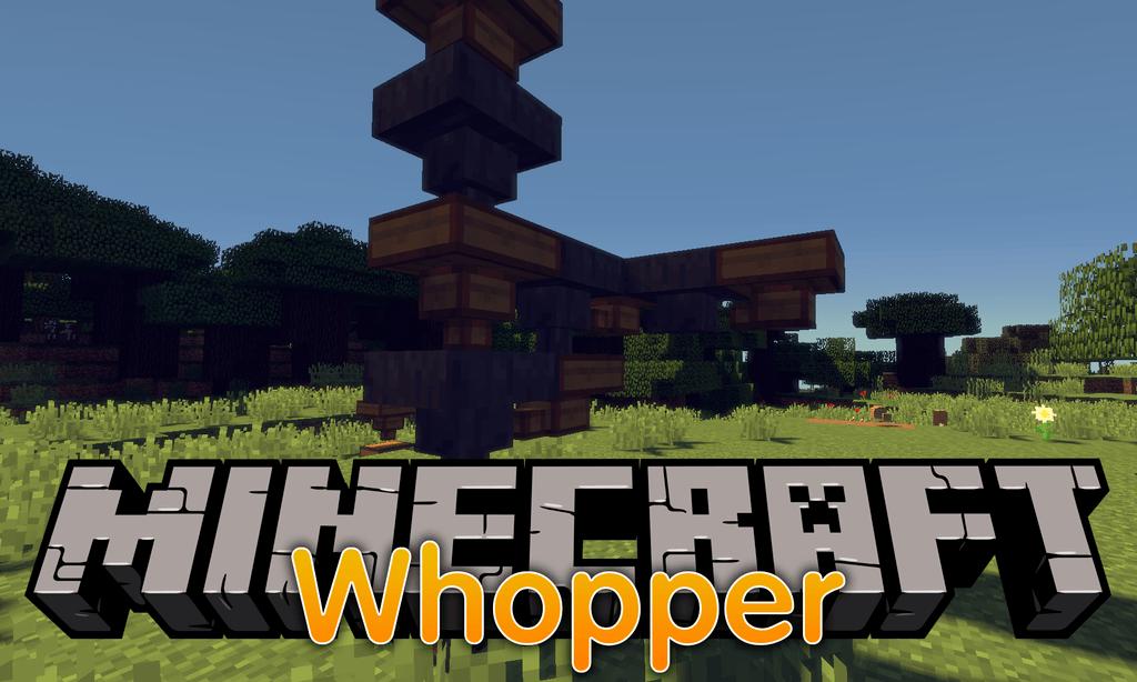Whopper mod for minecraft logo