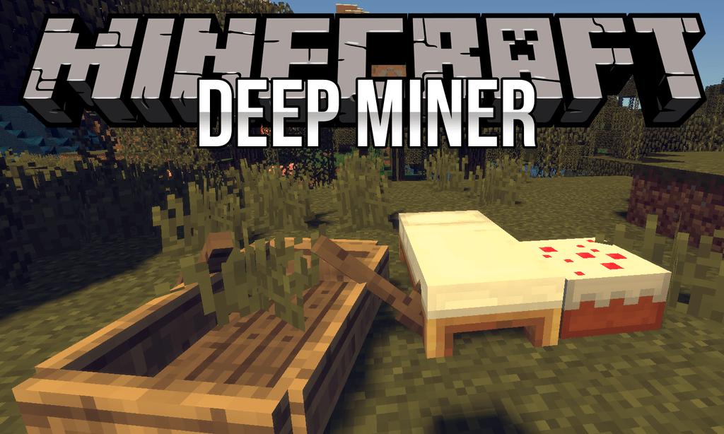 Deep Miner mod for minecraft logo