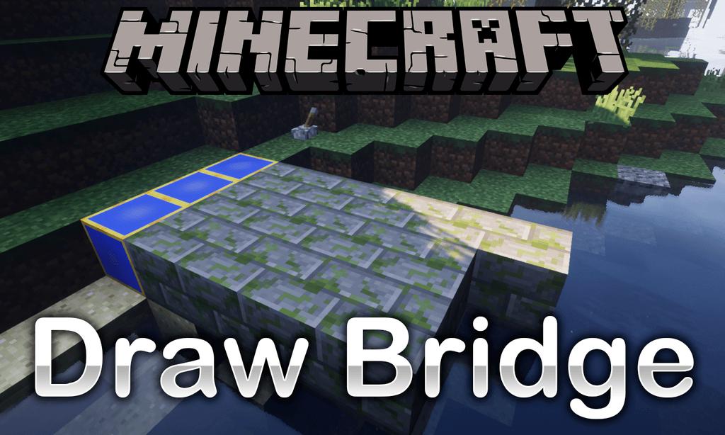 Draw Bridge mod for minecraft logo