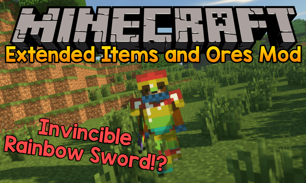 Extended Items and Ores Mod for minecraft logo