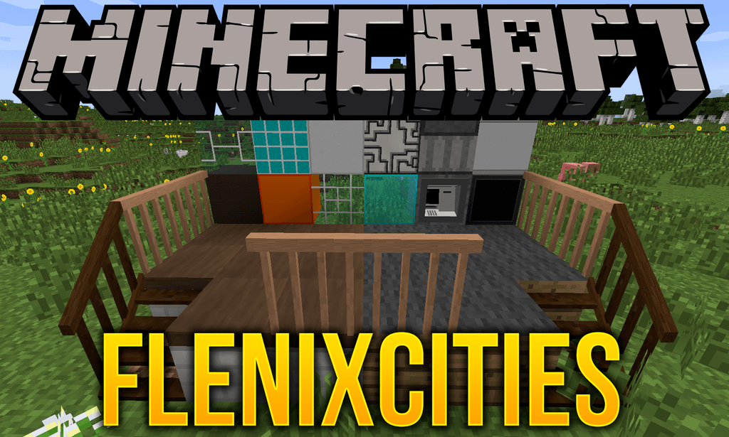 Flenix Cities mod for minecraft logo