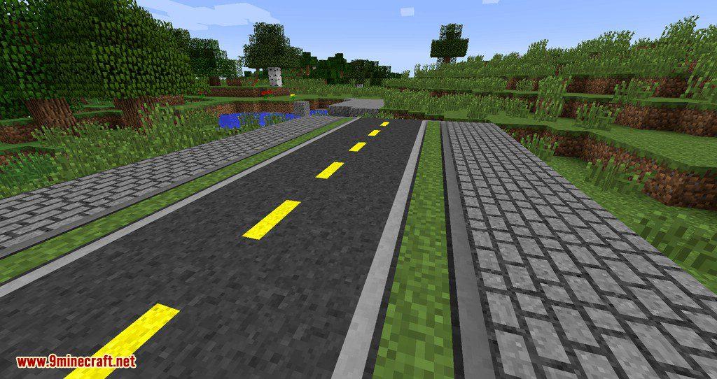 Flenix Roads mod for minecraft 02