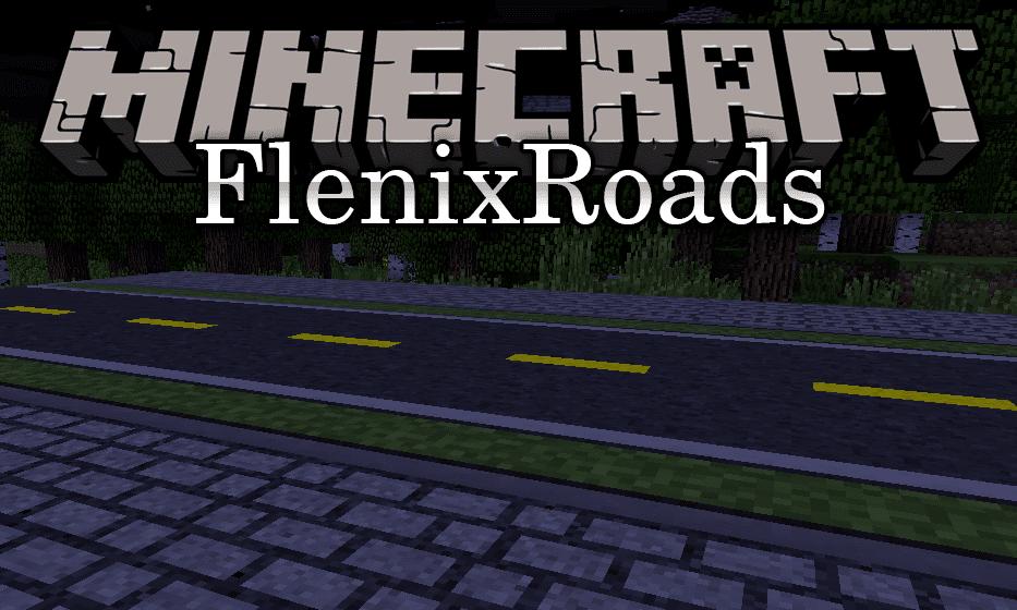 Flenix Roads mod for minecraft logo