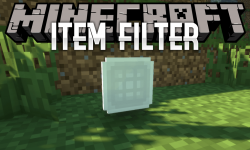 Item Filter mod for minecraft logo